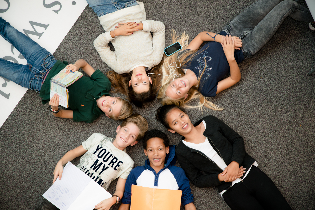 Middelbare scholieren Brugklassers